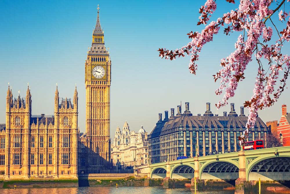 Half-term family fun: Big Ben and Westminster Bridge in London in spring